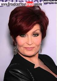 sharon osbournes haircolor cherry red hair color from inimitable businesswoman sharon