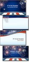 free powerpoint template 4th of july theme
