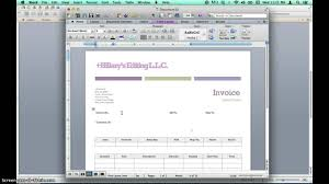 ms word templates for invoices creating invoices using microsoft word templates youtube