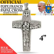 papal crucifix official pope francis pectoral papal cross 4 metal italian