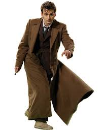 brown costume 10th doctor coat david tennant dr who brown trench coat