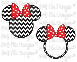 minnie mouse monogram minnie mouse chevron monogram ears with polka dot bow disney