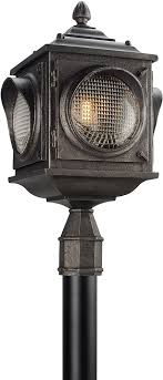 exterior post light fixtures troy pl4505 main street retro solid aluminum led outdoor post light