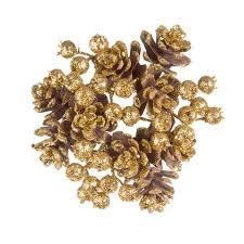 Candle Rings Darice Candle Rings With Pinecones Glitter Gold 4 Inches