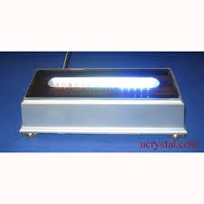 led light stand for crystal glass art light stands for photo crystals light stands 15 led rectangular