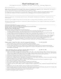George Washington Resume Resume For Akaii Lineberger