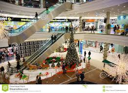 christmas in shopping mall editorial photography image 35870302