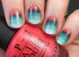 mesa sunrise watercolor gradient nail art adventures in acetone