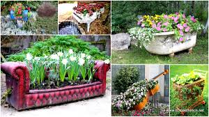 19 of the world u0027s best ways to repurpose old furniture in your garden