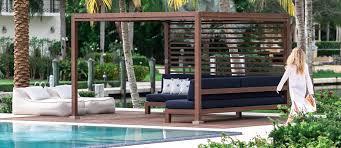 Garden Bench With Trellis Tuuci Equinox Outdoor Cabanas Tuuci