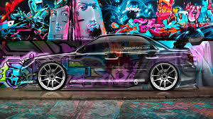 subaru tuner car subaru impreza wrx sti side crystal graffiti car 2014 el tony
