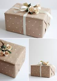 wedding gift wrap diy how to make polka dot wrapping paper modern