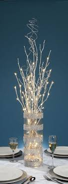 led light tree branches 27 inch silver glitter branch with 20 warm white led lights