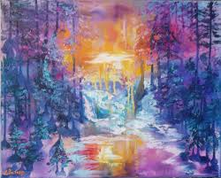paint dream oil painting abstract intuitive 40 50 forest dream 3 shop