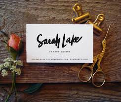 Fashion Photography Business Cards Custom Brush Script Hand Lettered Business Cards 100