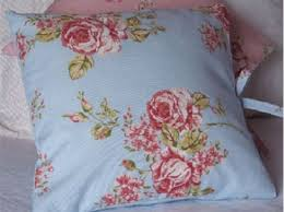Shabby Chic Cushions by Large Floral Shabby Chic Cushion Cover In Blue