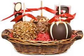 valentines baskets gourmet s day medium caramel apple gift basket