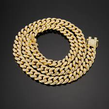chain necklace hip hop images 2018 hip hop iced out bling full paved rhinstones chain necklace jpg