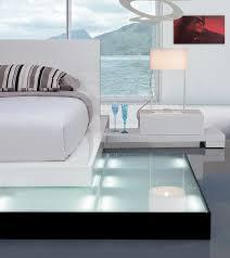 Platform Bed With Lights Platform Bed With Lights Galaxy Contemporary Style Bedroom Set