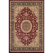 Burgundy Area Rugs Traditional Oriental Medallion Design Burgundy Area Rug 7 U002710 X 10