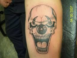 skull tattoos clown skull tattoos designs clown chest