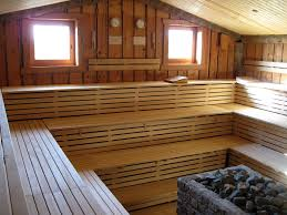 Home Spa Ideas by Interior Simple Home Sauna Kits With Corner Bench Also Wooden