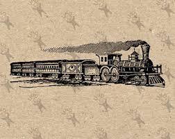 train drawing etsy