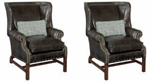 Leather Accent Chair Of 2 Humphrey