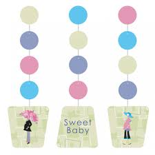 Mod Baby Shower by Mod Mom Baby Shower Hanging Cutouts From All You Need To Party Uk