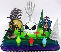 nightmare before christmas cake decorations nightmare before christmas birthday cake topper set
