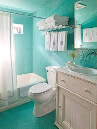 best small bathroom design ideas and decorations for glittering ocean turquoise tiles