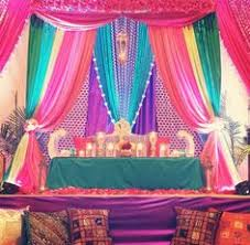 indian wedding decoration rentals multicolor backdrop for sangeet party courtesy aliph aur meem