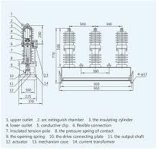outdoor h v vacuum circuit breaker parts of vacuum circuit