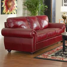 Wayfair Sectionals Furniture Burgundy Leather Sofa Genuine Leather Sectional With