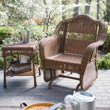 Outdoor Furniture U2014 Outdoor Living Coral Coast Casco Bay Resin Wicker Outdoor Glider Chair With