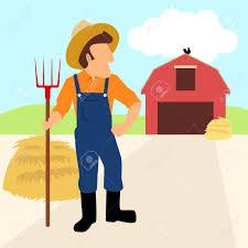 A Cartoon Barn Simple Cartoon Of A Farmer And His Barn Royalty Free Cliparts