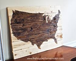United States Wall Map by Rustic Wood United States Us Map Wall Art 21