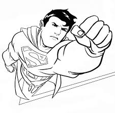 Superman Coloring Pages In Action Coloringstar Superman Coloring Pages Print