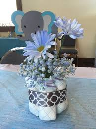 elephant baby shower centerpiece plan to many soirees