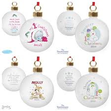 Baby First Christmas Tree Bauble by Personalised Babys 1st Christmas Gift Idea Babies My First