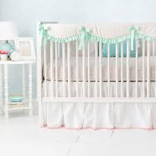 White Ruffle Crib Bedding Ruffled White Crib Skirt Linen Crib Skirt Pom Pom Crib Skirt
