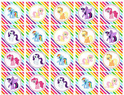 my pony cupcake toppers diy printable my pony mane by dlrpartydesigns 3 25 my