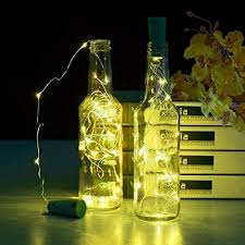 how to make a wine bottle l set of 6pc wine bottle cork lights 6 5foot 20 led warm white