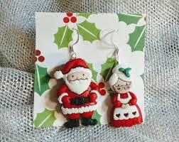 christmas earrings etsy