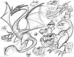 sketch blog dragon sketches