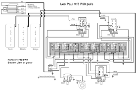 3 p90 les paul with pu level and blend trim