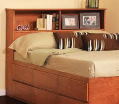 Queen Bed With Shelf Headboard by Attractive Queen Storage Bed With Bookcase Headboard Including