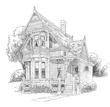 9 images of victorian christmas houses coloring page victorian