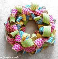 a glimpse inside spring chevron wreath tutorial