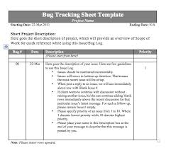 Issue Tracking Excel Template Bug Tracking Sheet Template Tracking Templates